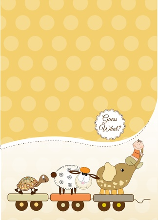 customizable baby card  Stock Vector - 9806376