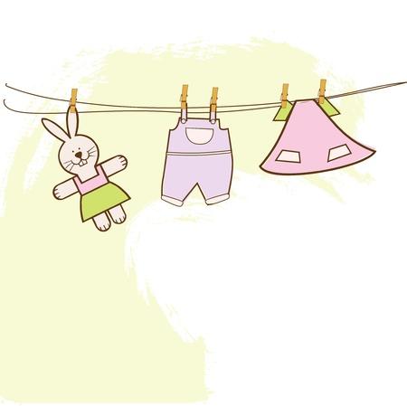 baby shower invitation  Stock Vector - 9806437