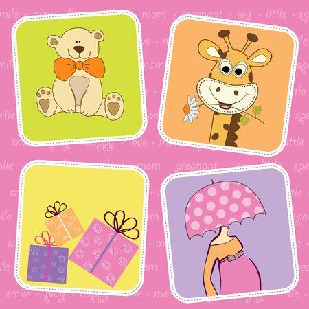 new baby shower invitation Stock Vector - 9806392