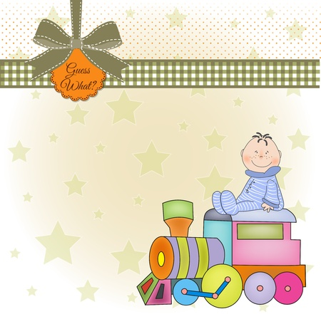 customizable birthday greeting card with train Stock Vector - 9806546