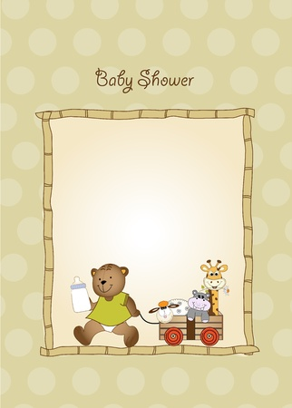 baby shower card Stock Vector - 9806397