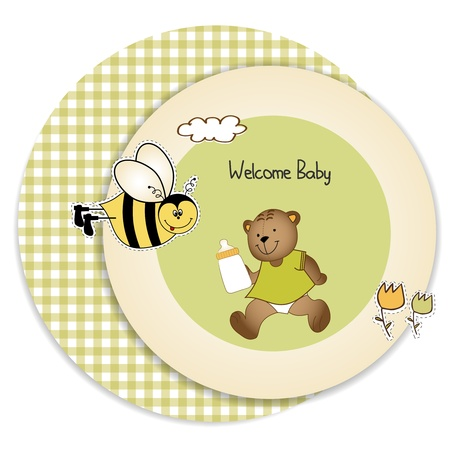 baby shower greeting card Stock Vector - 9806755