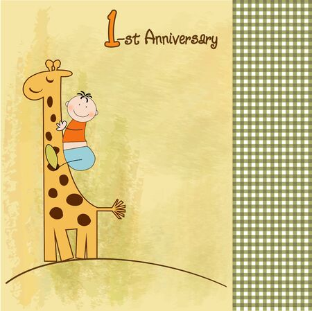 first anniversary Stock Vector - 9934163