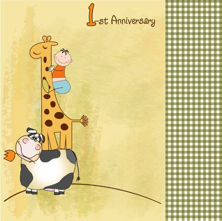first anniversary  Vector
