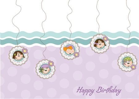 happy birthday card Stock Vector - 9934159