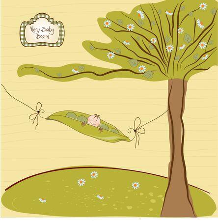 green peas: happy birthday background