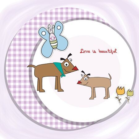 couple of happy dogs  Stock Vector - 9934464