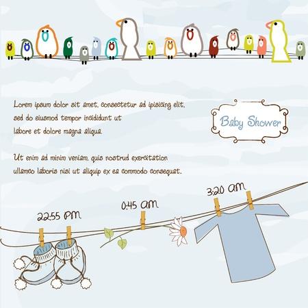 baby shower announcement Stock Vector - 9934338