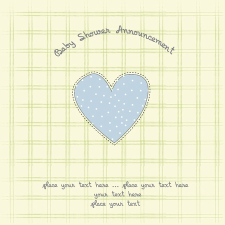 baby shower card with heart  Vector