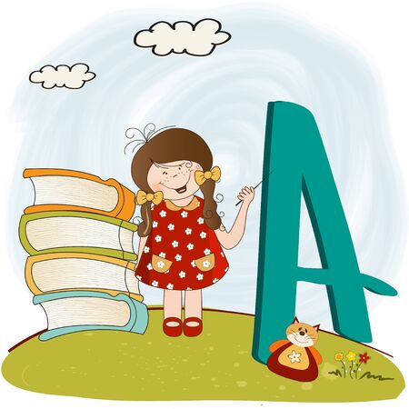 children alphabet letters  Vector