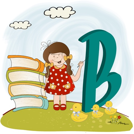 children alphabet letters  Stock Vector - 9934462