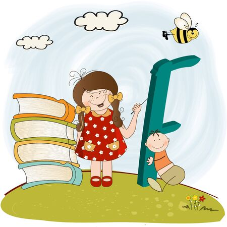 children alphabet letters Stock Vector - 9934438