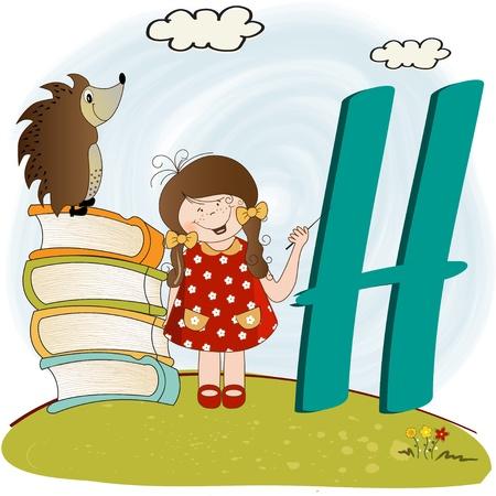 children alphabet letters Stock Vector - 9934428