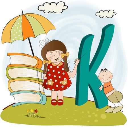 floral letters: children alphabet letters
