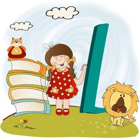 children alphabet letters   Vector