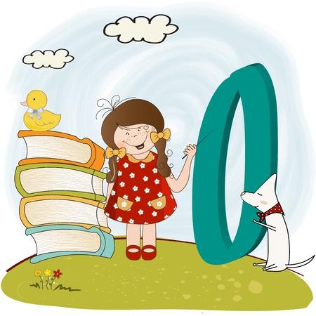 children alphabet letters Stock Vector - 9934451