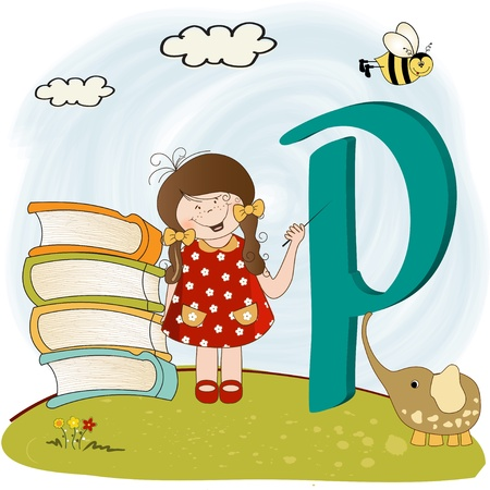 children alphabet letters Stock Vector - 9934437
