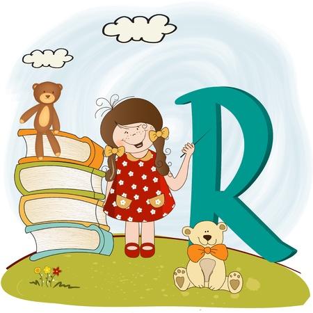 children alphabet letters Stock Vector - 9934448