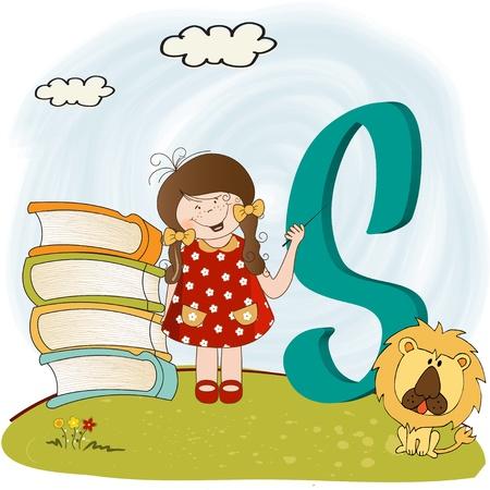 children alphabet letters   Stock Vector - 9934432