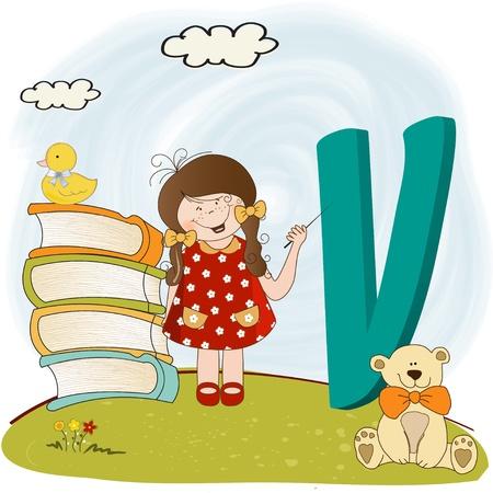children alphabet letters Stock Vector - 9934452