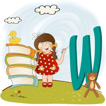 children alphabet letters   Stock Vector - 9934457