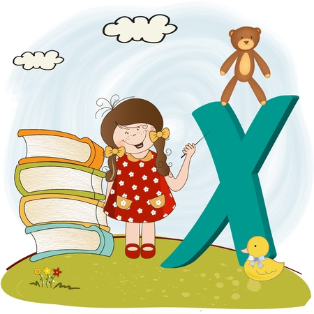 children alphabet letters Stock Vector - 9934458