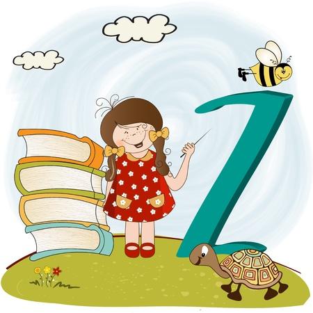 children alphabet letters Stock Vector - 9934435