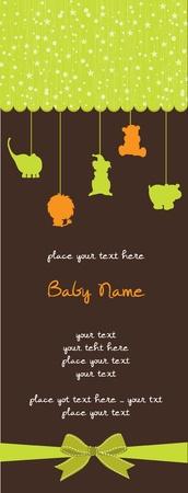 uitnodigen: baby shower kaart