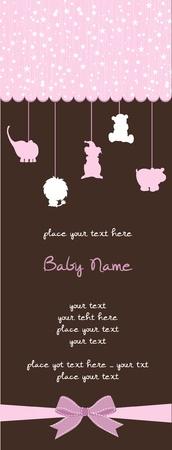 welcome party: tarjeta de ducha de beb� Vectores