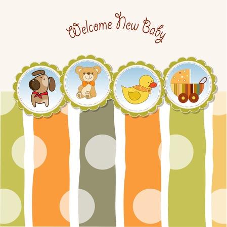 cochecito de bebe: nuevo beb� anuncio de la tarjeta