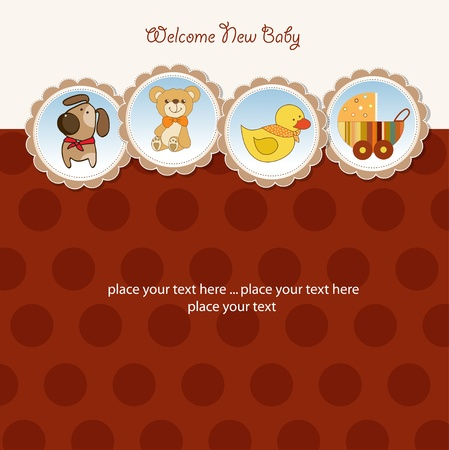 specifically: new baby announcement card