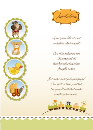baby duck: new baby announcement card