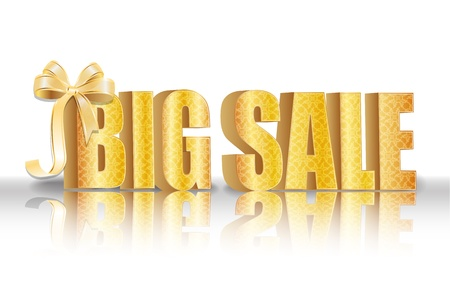 3D big sale, made of pure, beautiful luxury gold Stock Vector - 10586848