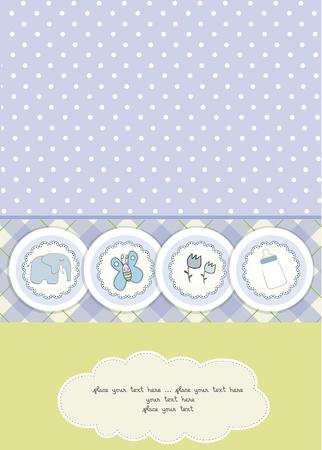 invitacion bebe: nuevo beb� anuncio de la tarjeta