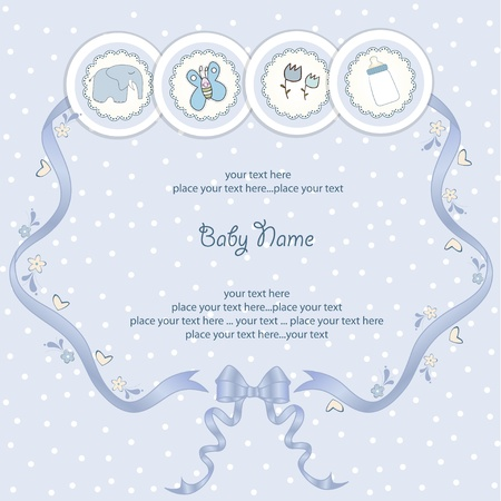 play card: new baby announcement card