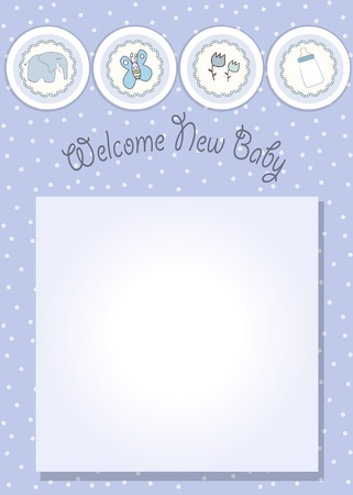 new baby announcement card Stock Vector - 10586945