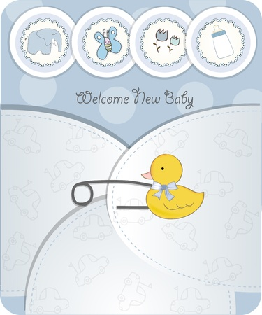 new baby announcement card Stock Vector - 10586913