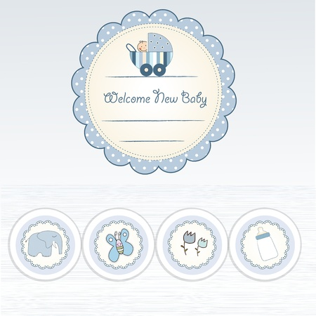 nice background: new baby announcement card