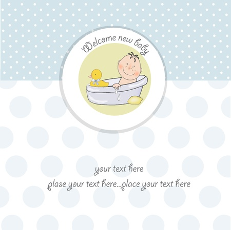 water birth: baby boy shower card