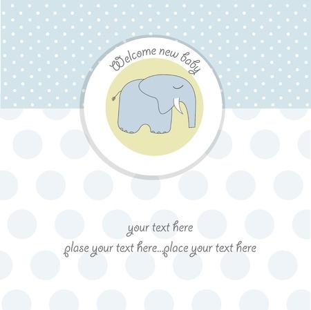 welcome party: tarjeta de ducha de Baby boy