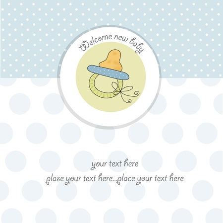baby scrapbook: baby boy shower card