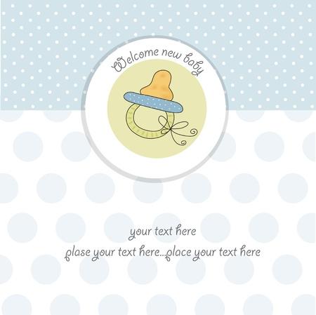 pacifier: bebé ducha tarjeta
