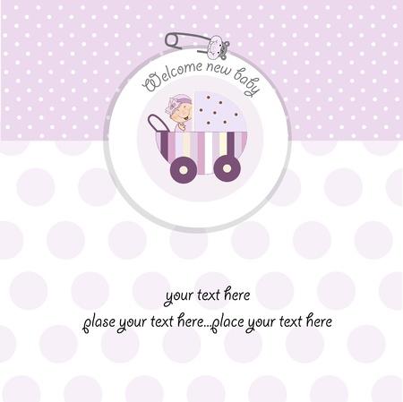 baby girl shower card Vector