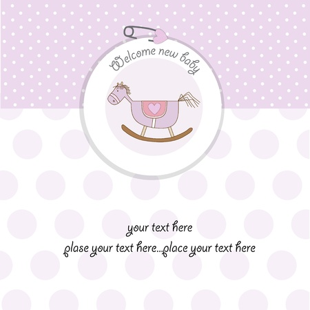 baby girl shower card Illustration
