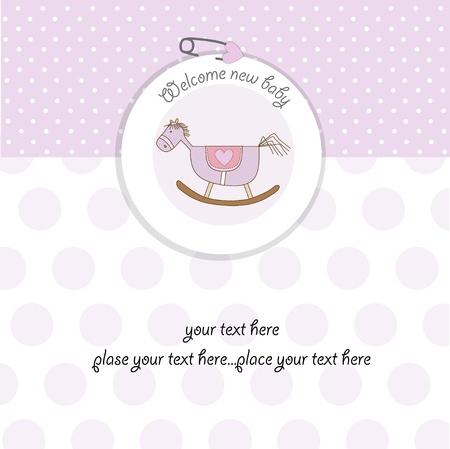 girl shower: tarjeta de ducha baby girl