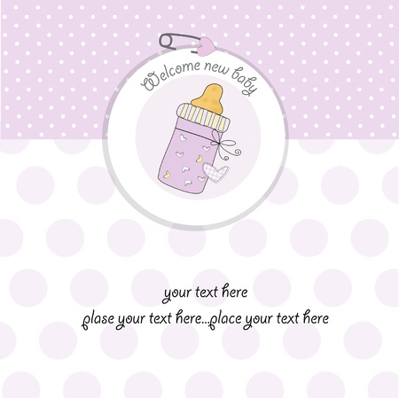soothers: baby girl shower card