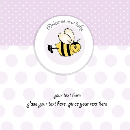 bee birthday party: baby girl shower card