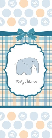 baby boy shower card Stock Vector - 10586754