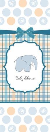 carte de douche de bébé Vecteurs
