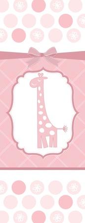 girl shower: tarjeta de ducha baby girl  Vectores